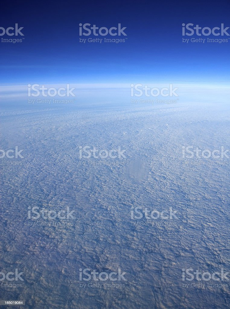 High altitude view of clouds. royalty-free stock photo