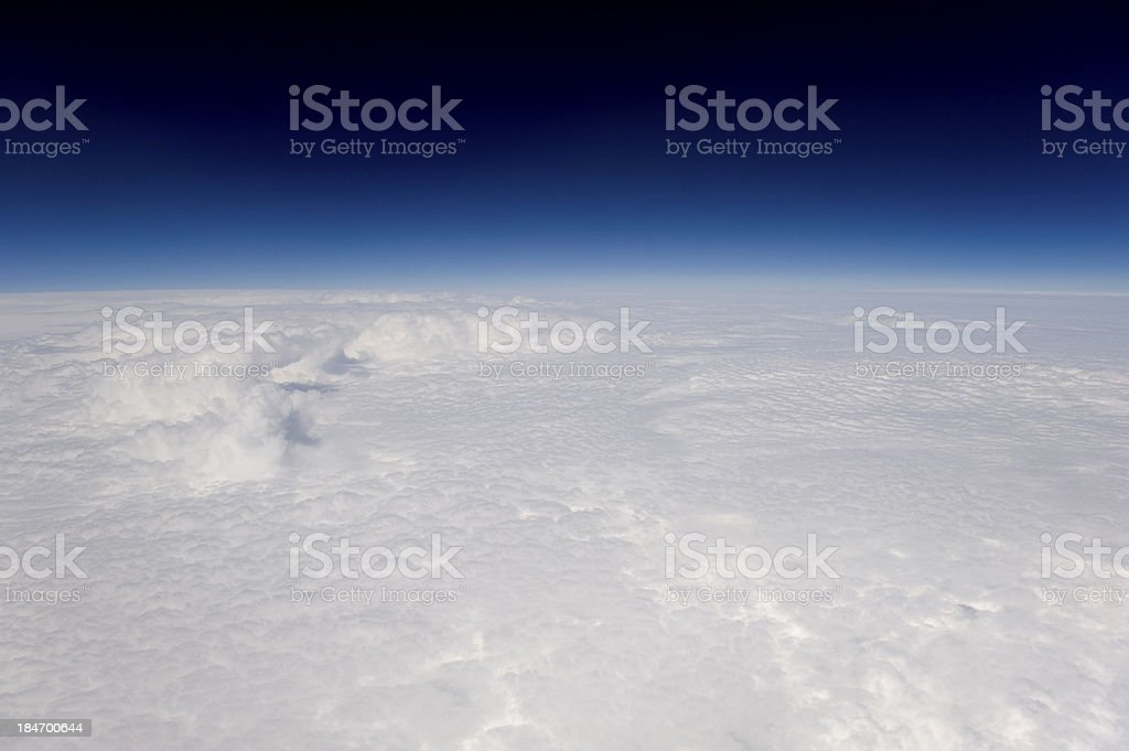 High altitude view of clouds. Very crisp. royalty-free stock photo