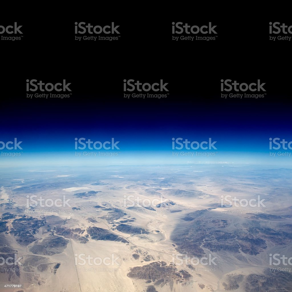 High altitude view of Earth taken from the upper atmosphere royalty-free stock photo