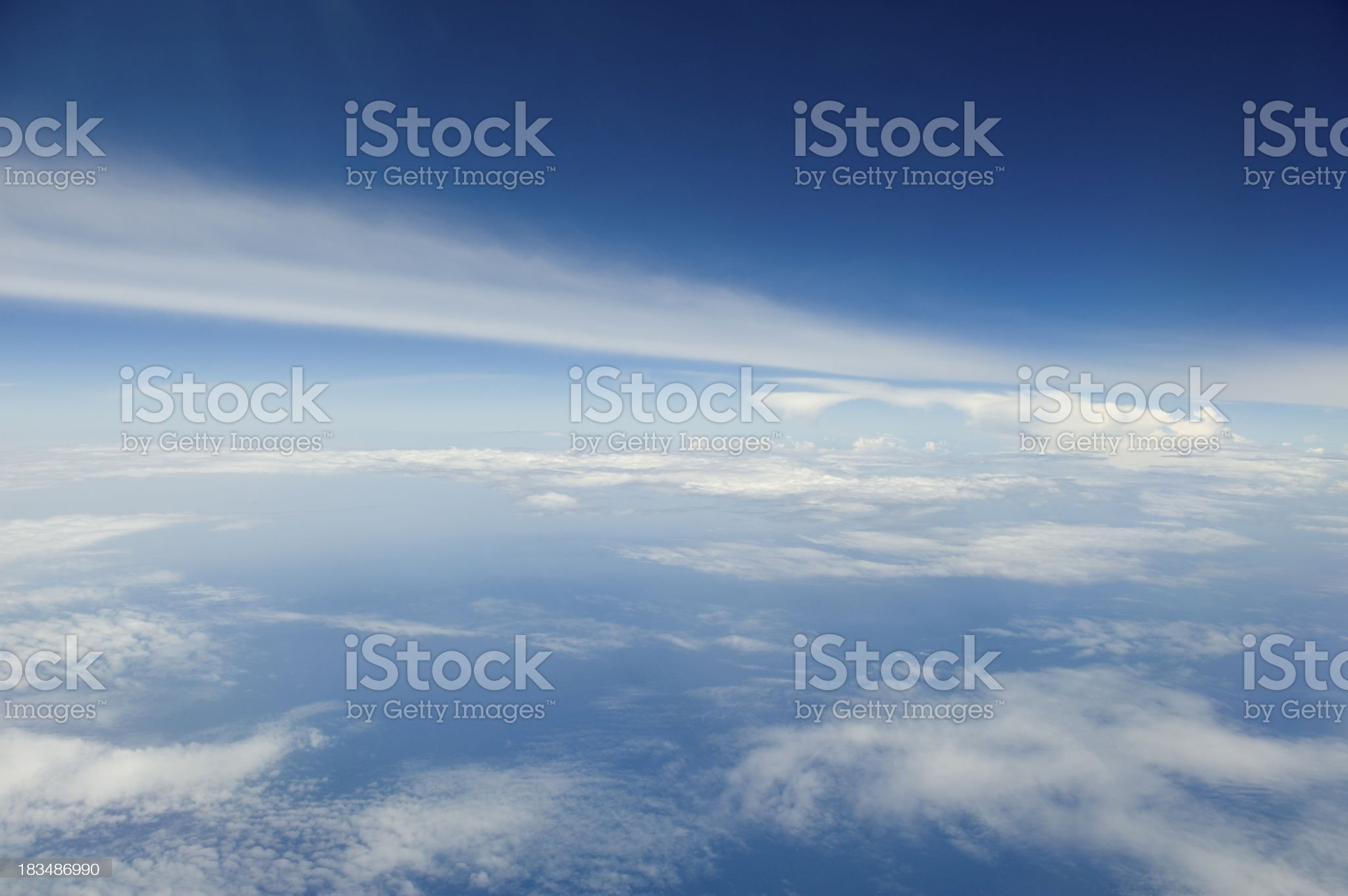 HIgh altitude view of the atmosphere. royalty-free stock photo