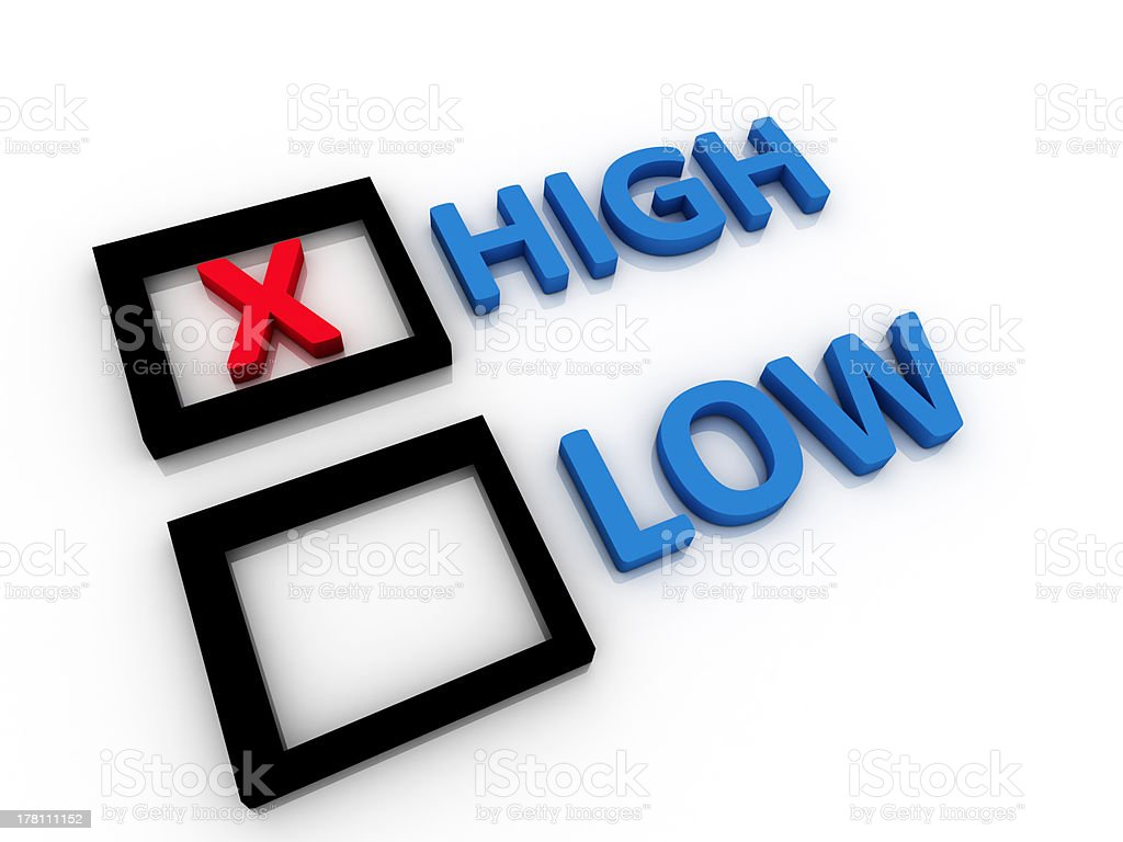 High and Low letters royalty-free stock photo