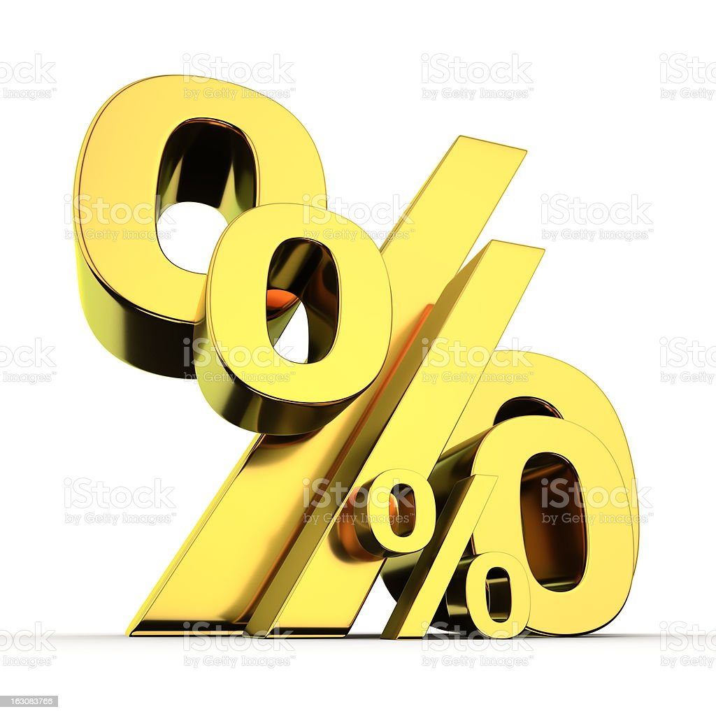 High and low percentages royalty-free stock photo