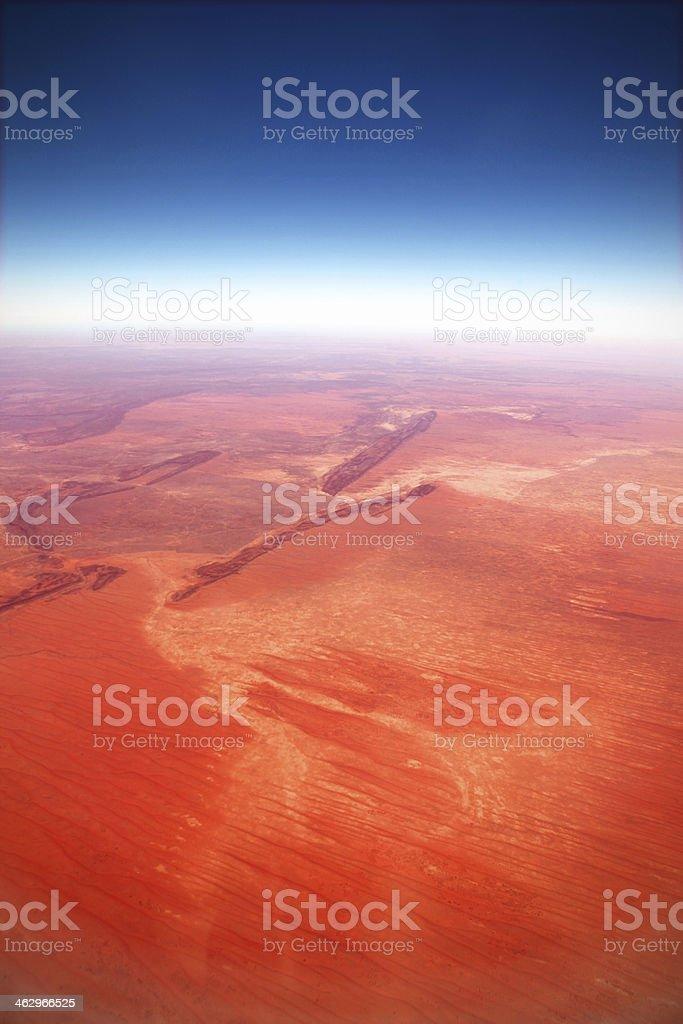High Angle Aerial View of Australian Aboriginal Land Northern Territory stock photo