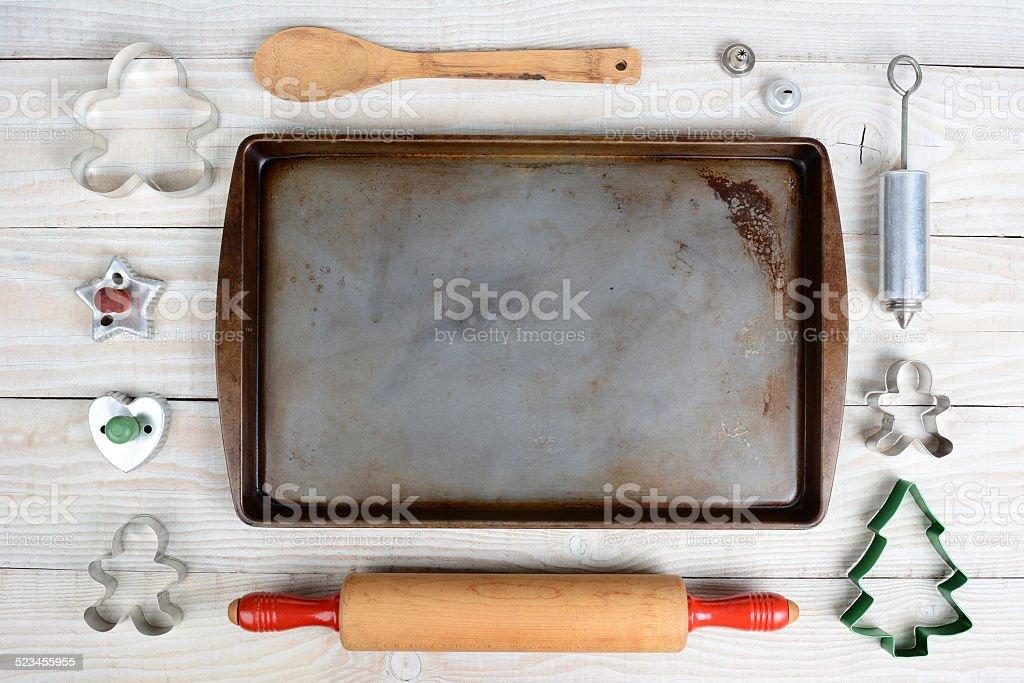 High Angle Baking Still Life stock photo