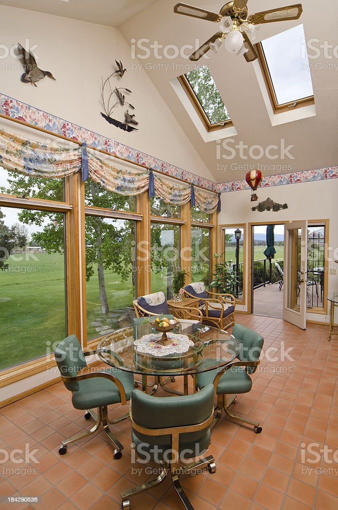 High angle of the dining room royalty-free stock photo