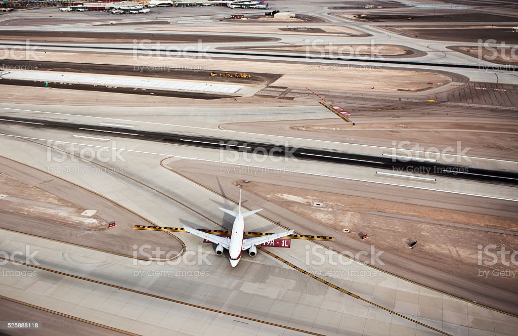 High angle view Airport stock photo