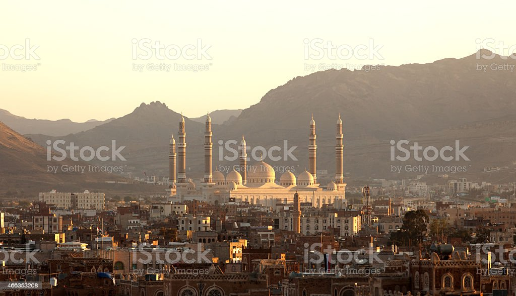 High Angle View Al-Saleh Mosque stock photo