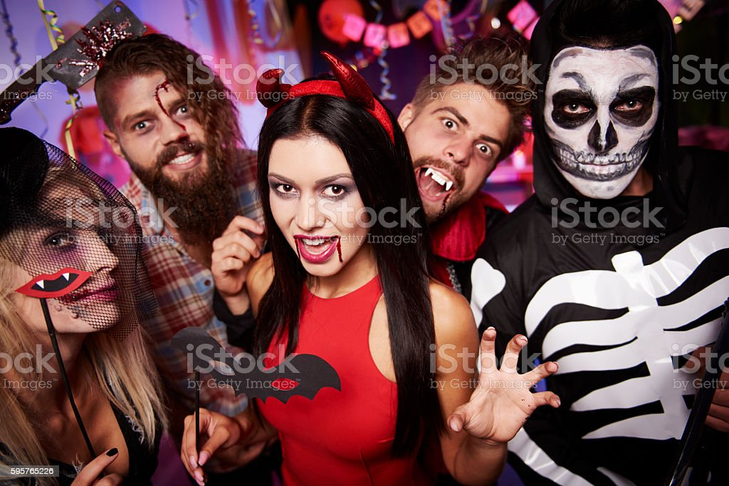 High angle view at party people stock photo