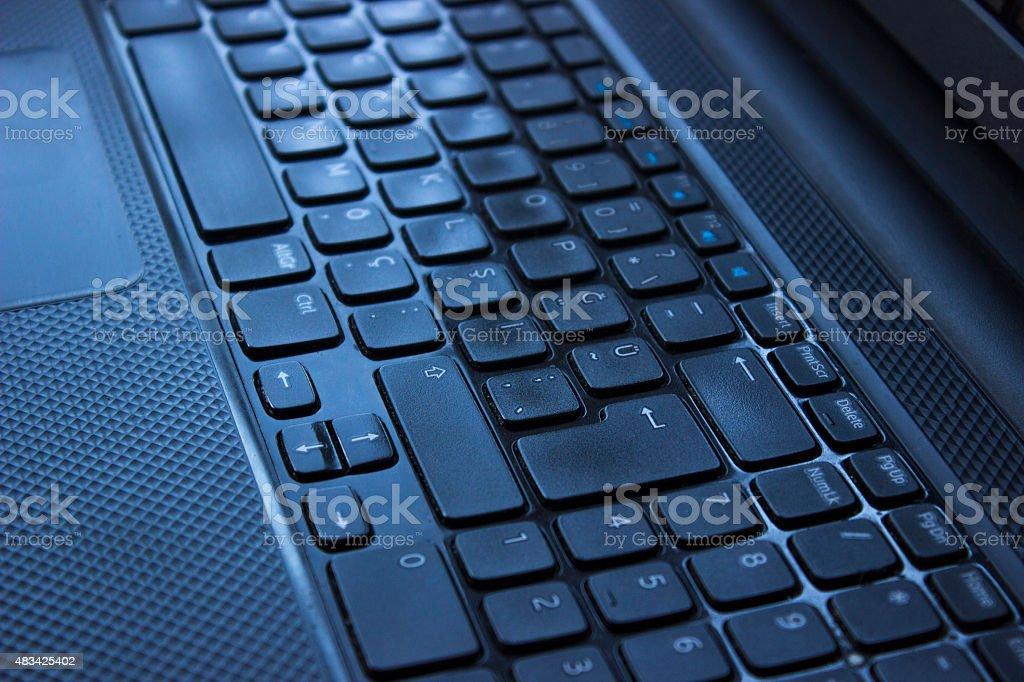 High angle view computer keyboard stock photo