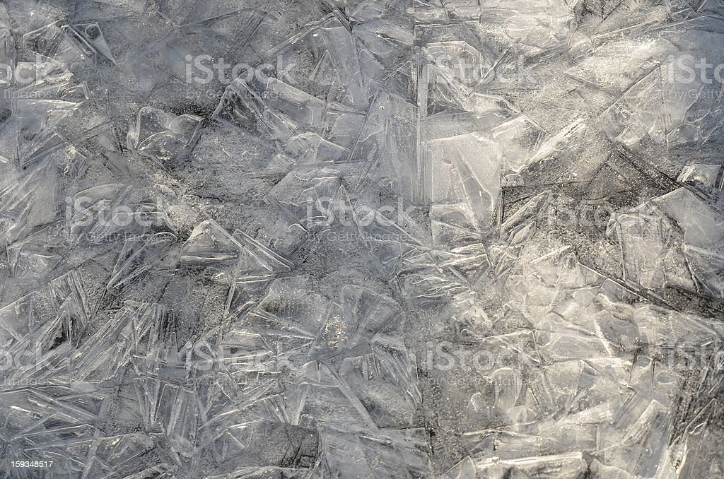High Angle View of a frost pattern background royalty-free stock photo