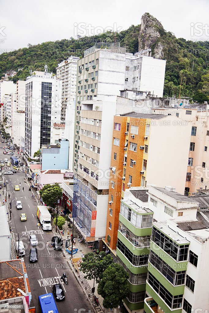 High angle view of a street-  Rio de Janeiro, Brazil royalty-free stock photo