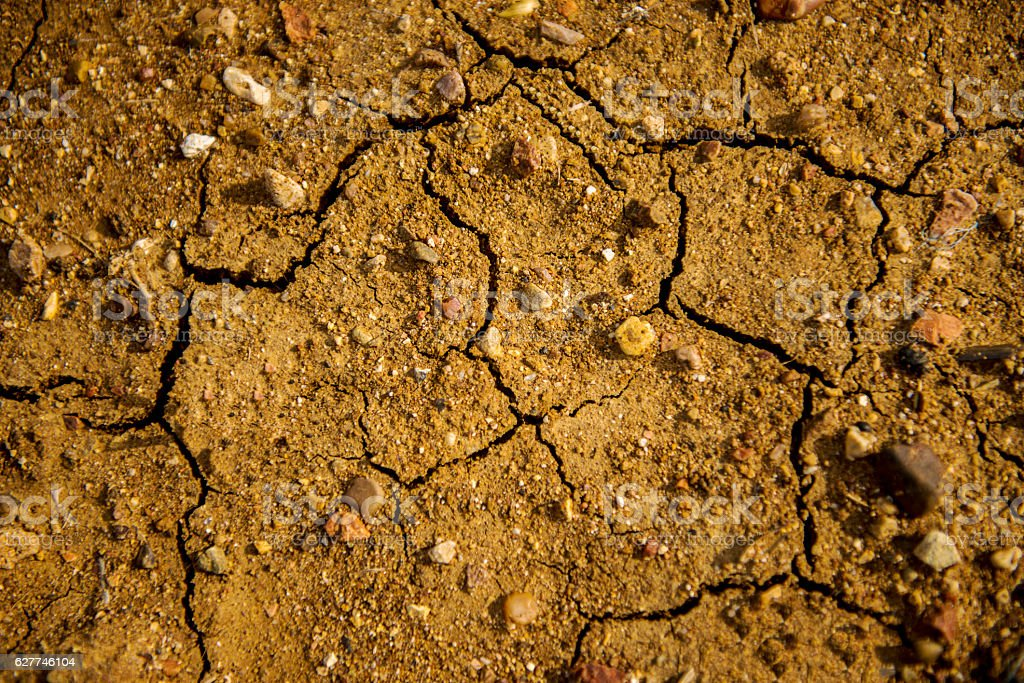 High angle view of cracked ground stock photo