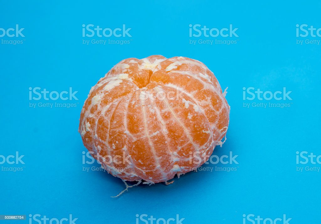 High angle view of fresh tangerine stock photo
