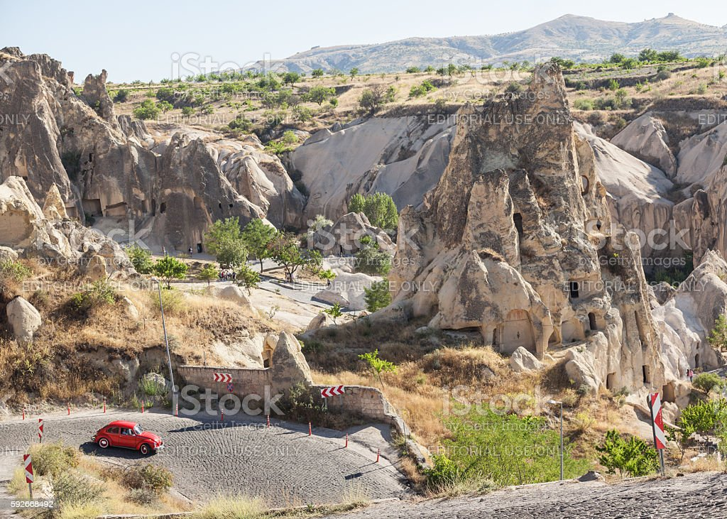 High Angle View Of Goreme Open Air Museum stock photo