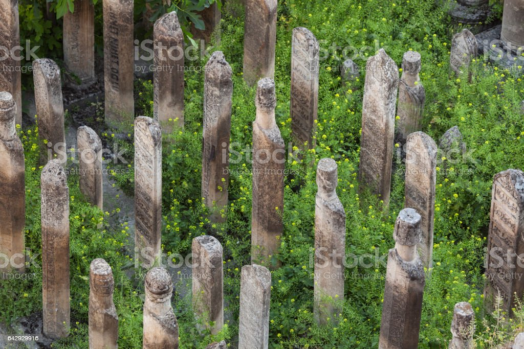 High Angle View Of Historical Cemetery In Sanliurfa Turkey stock photo