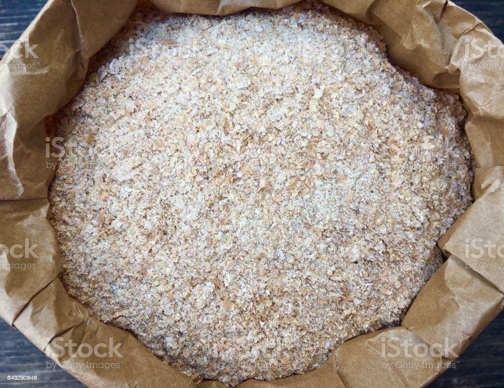 High angle view of wheat bran stock photo