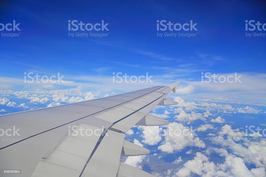 High angle view on the airplane stock photo