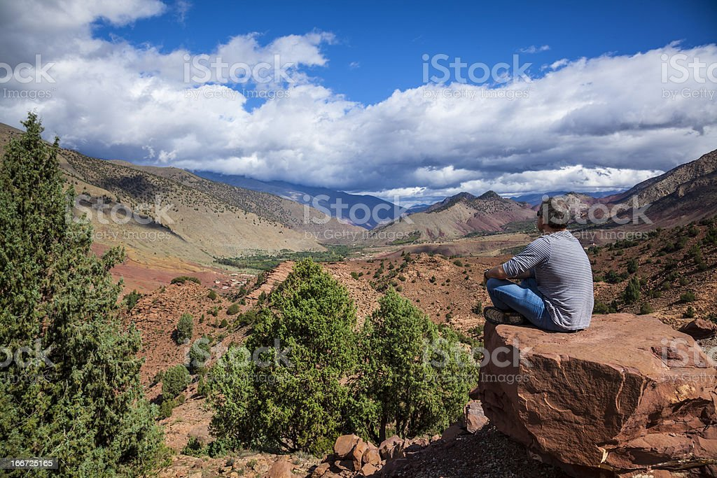 High Atlas mountain pass, Morocco stock photo