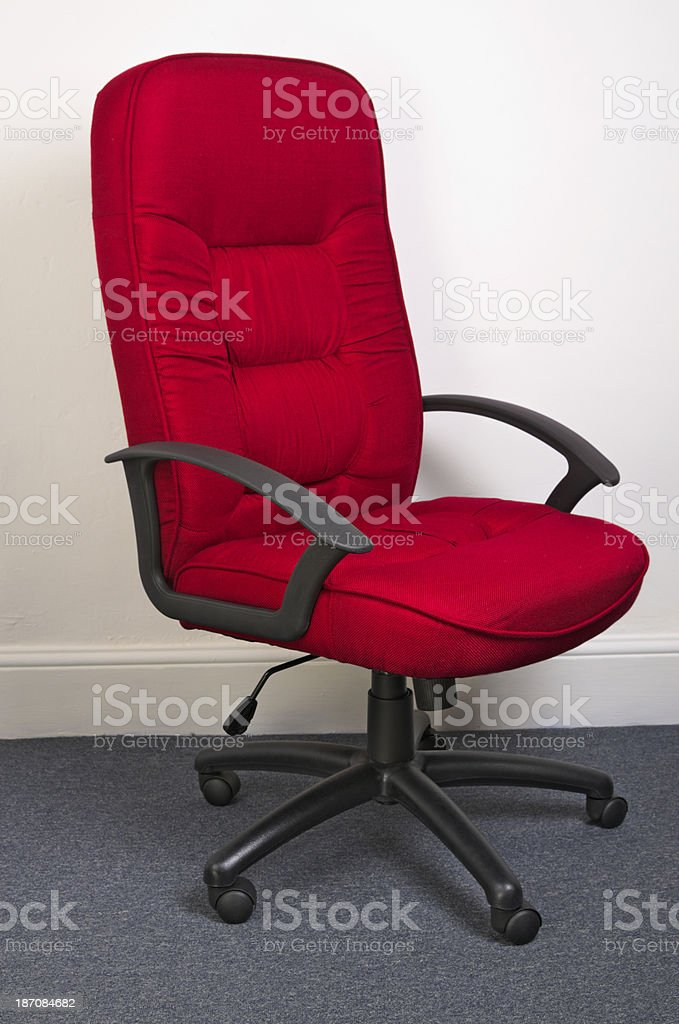 High Back Executive Office Chair In Red royalty-free stock photo