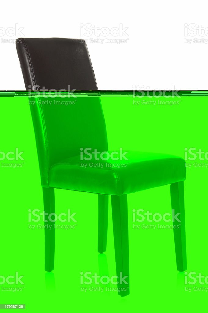 High Back Leather Chair stock photo