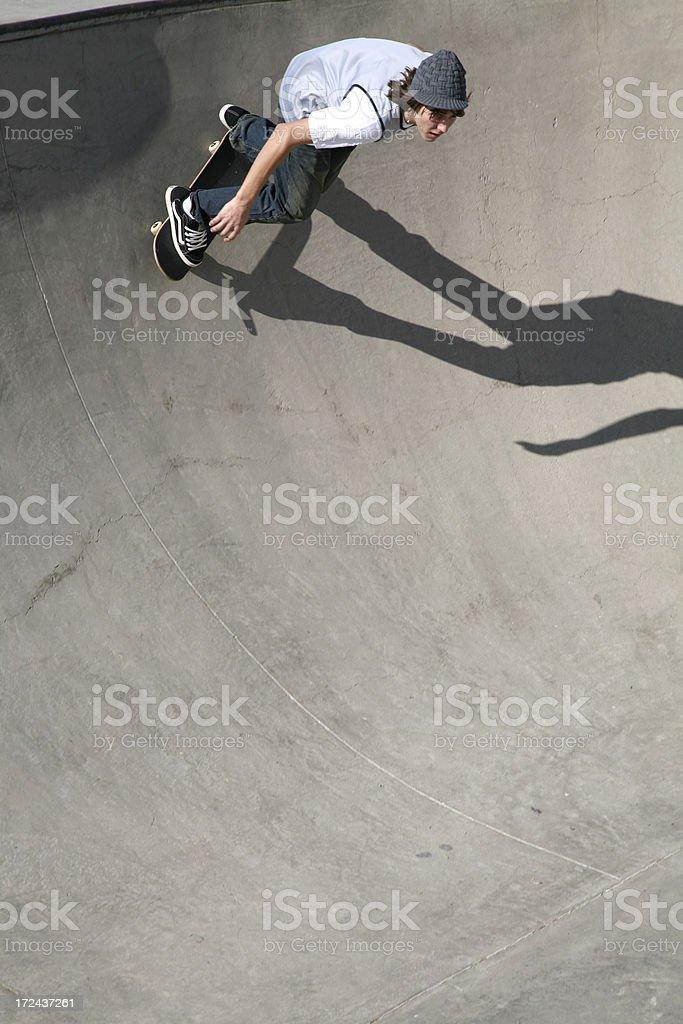 High Banked Skateboarding royalty-free stock photo