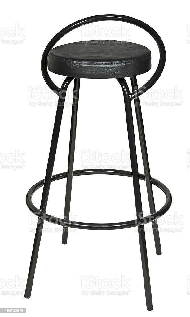 high black bar stool isolated on white background. royalty-free stock photo