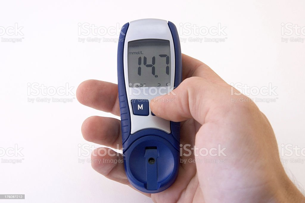 High Blood Sugar Level royalty-free stock photo