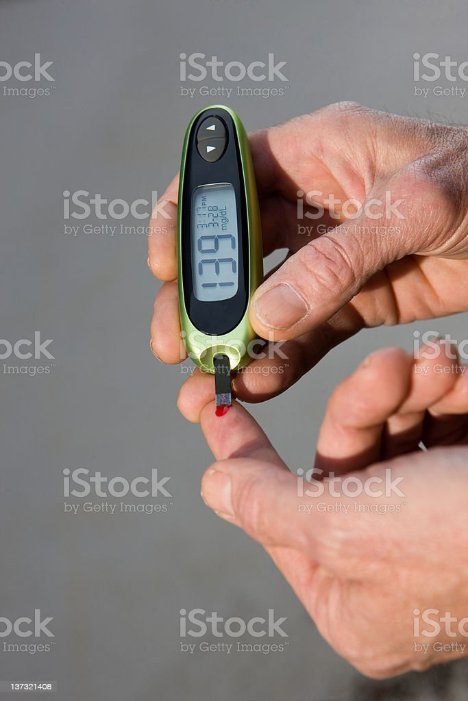 High Blood Sugar Test royalty-free stock photo