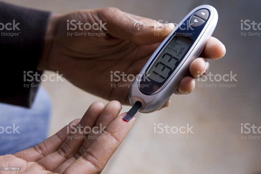 High Blood Sugar Test stock photo