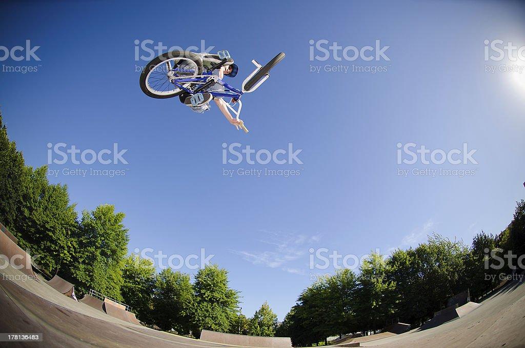 High BMX jump royalty-free stock photo