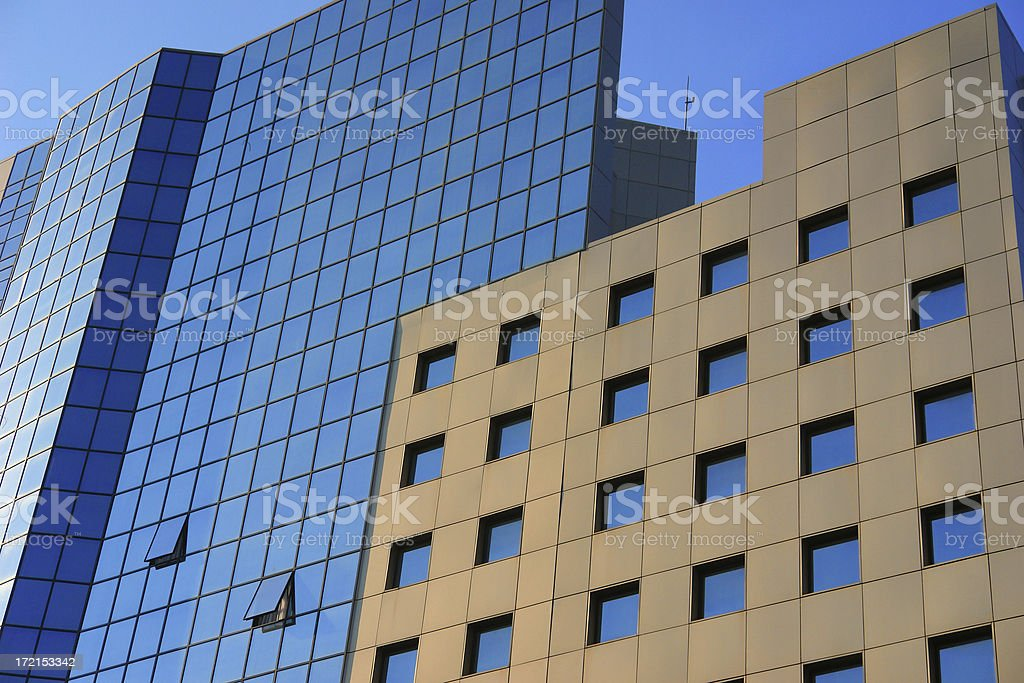 High building in downtown royalty-free stock photo