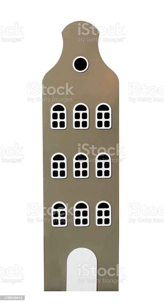 High building over white stock photo