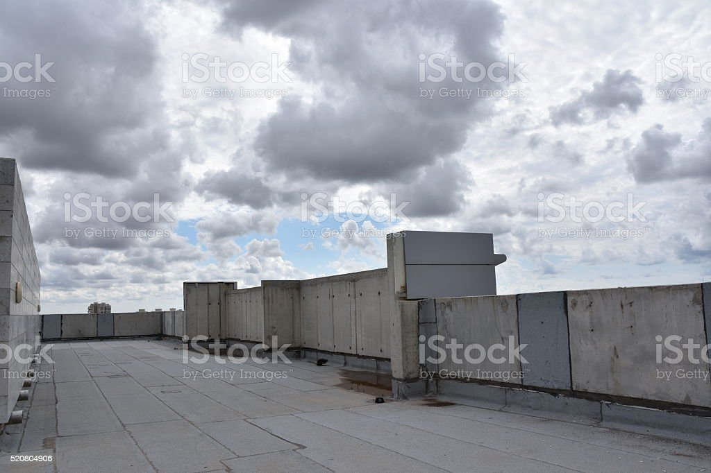 High building roof stock photo