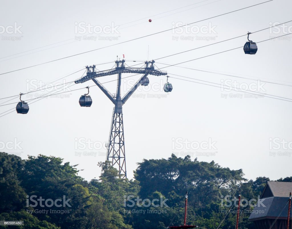 High cable car stock photo