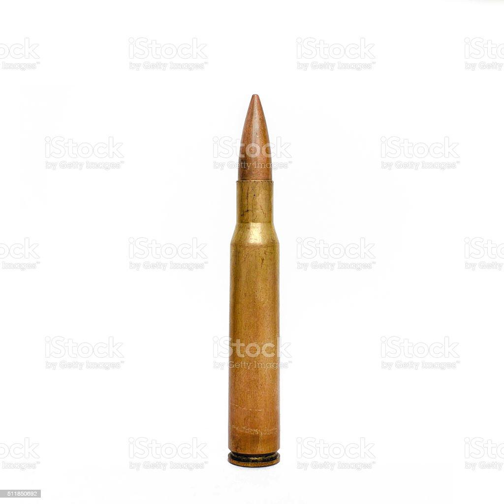 High Caliber Rifle Bullet stock photo