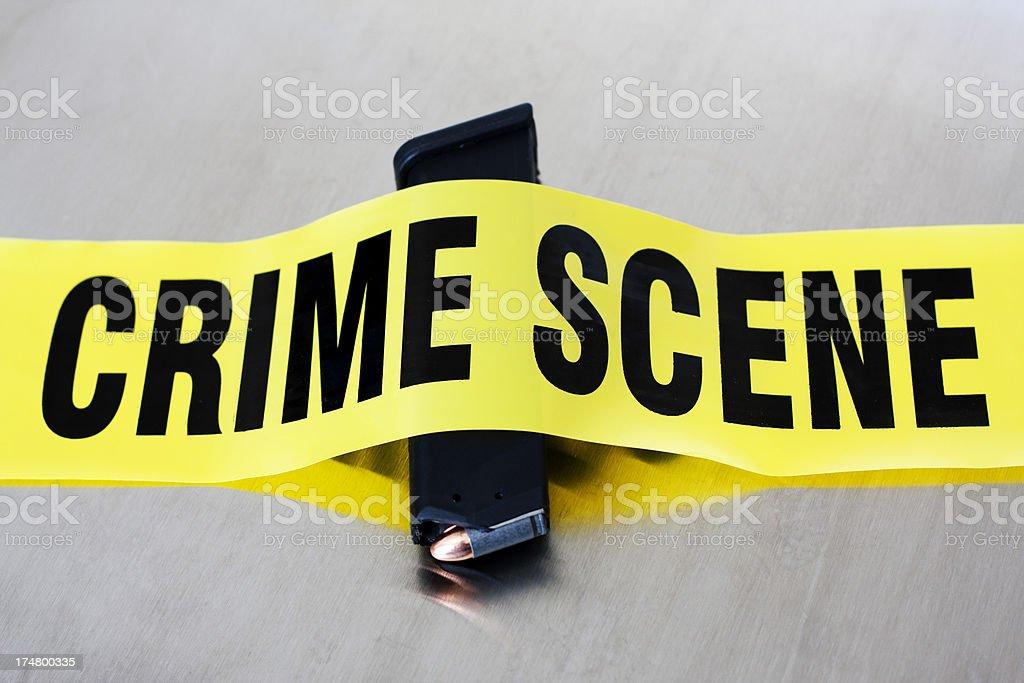 High Capacity 9mm Crime Scene stock photo