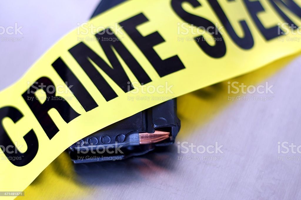 High Capacity Crime Scene stock photo