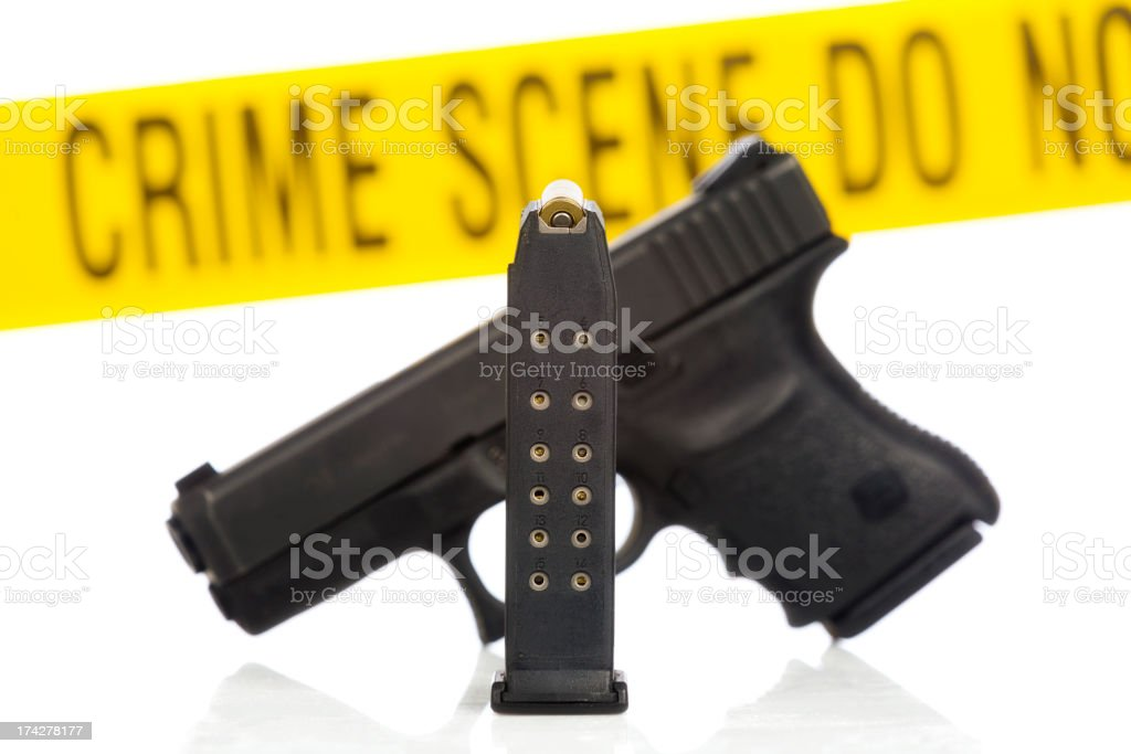 High Capacity Handgun stock photo