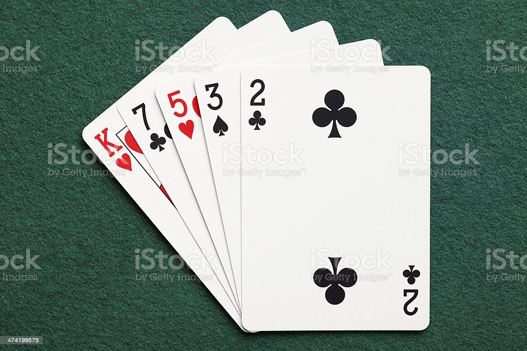 High card royalty-free stock photo