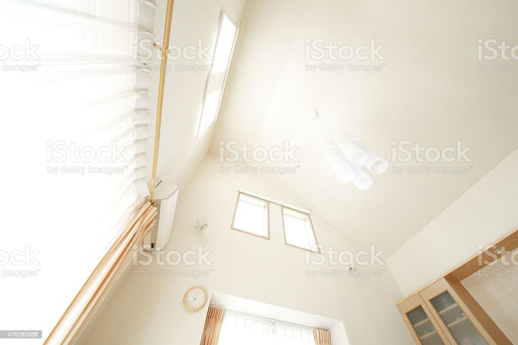 High ceiling in apartment stock photo