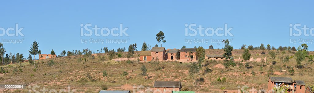 Haute terre centrale de Madagascar stock photo