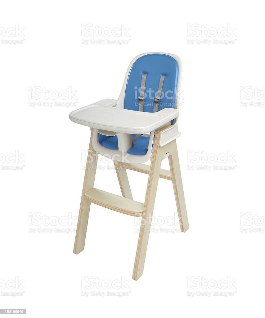 high chair under the white background royalty-free stock photo
