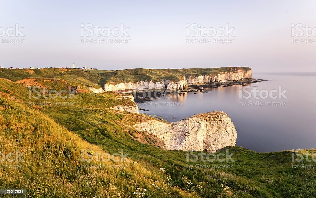 High chalk cliffs and coastline, Flamborough Head, Yorkshire, UK. royalty-free stock photo