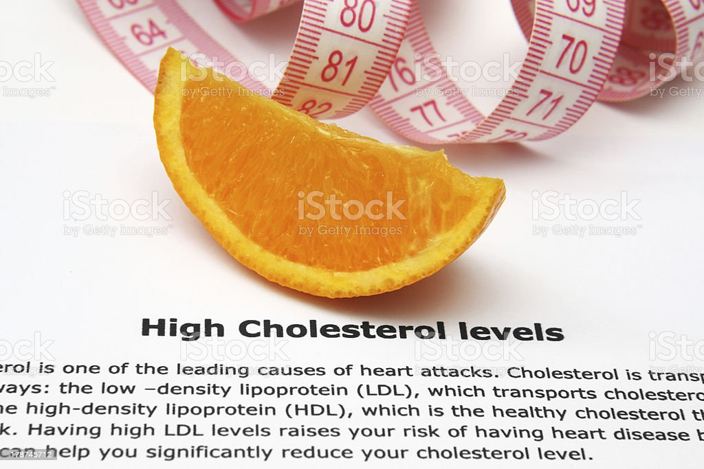 High cholesterol concept stock photo