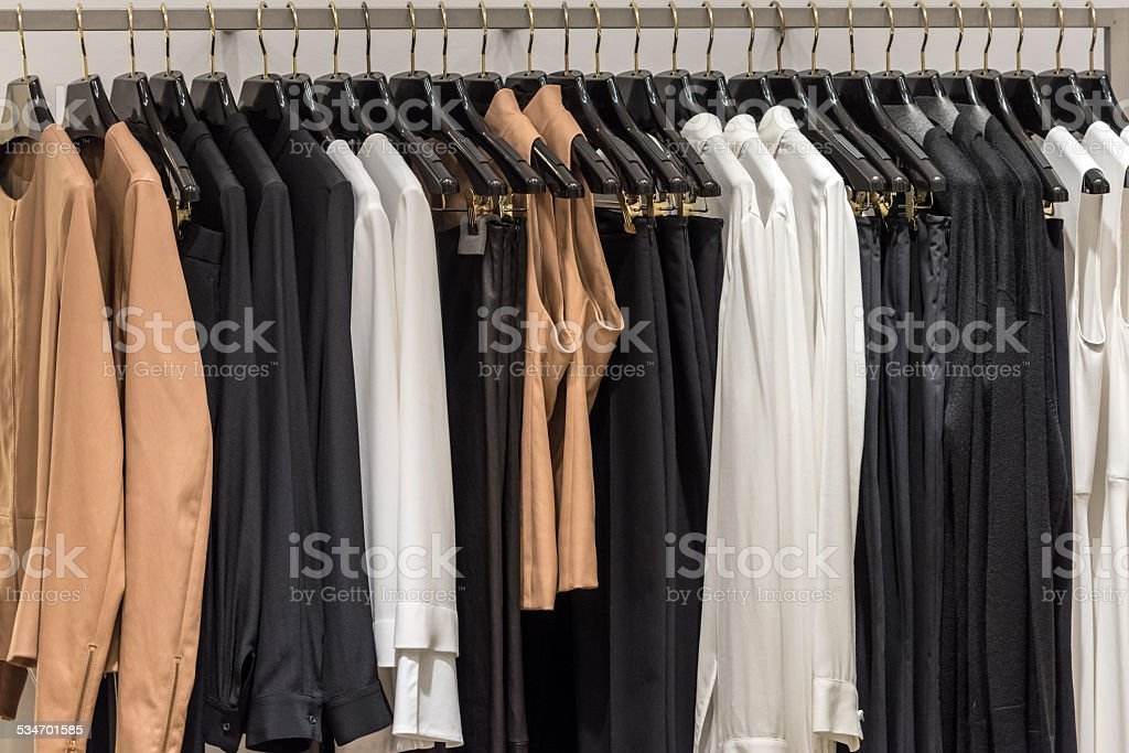 High class clothes stock photo
