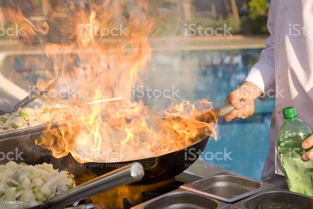 High class cooking technique royalty-free stock photo