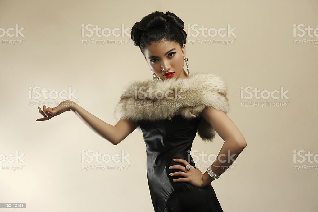 High class lady royalty-free stock photo