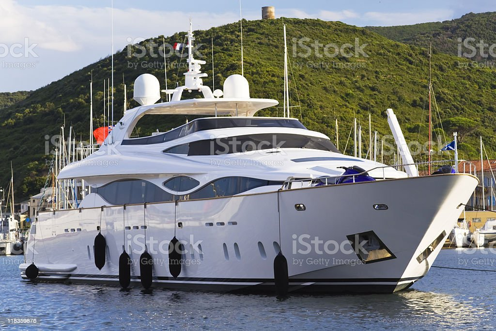 high class luxury boat royalty-free stock photo