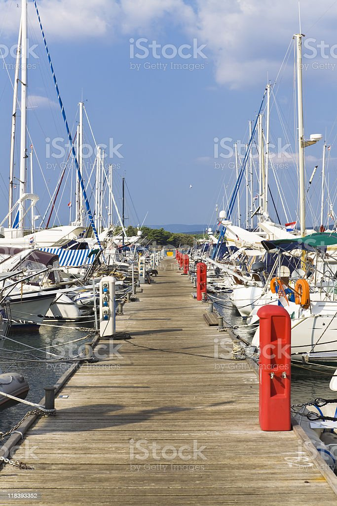 high class marina royalty-free stock photo