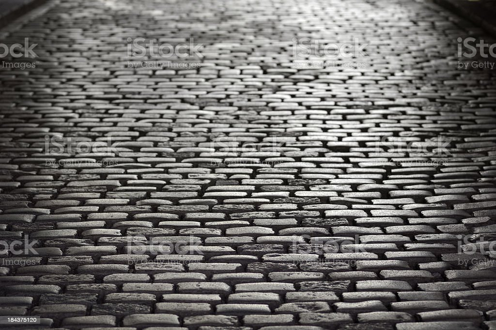 High contrast cobblestone background stock photo